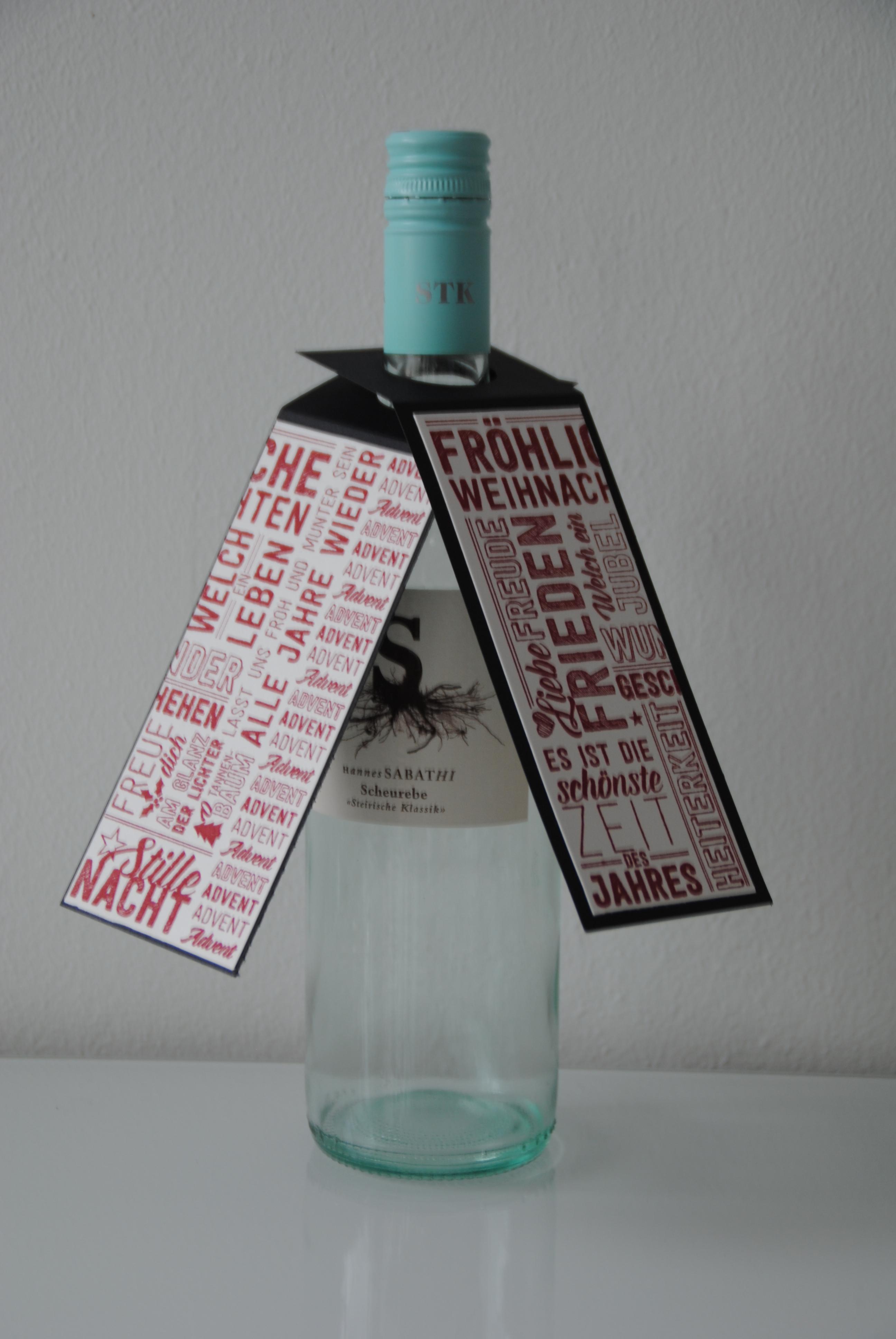 scrapbooking flaschenanhanger weihnachten bibibunt. Black Bedroom Furniture Sets. Home Design Ideas